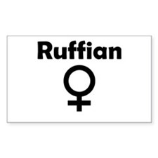 Ruffian Female Symbol Rectangle Decal