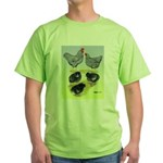 Plymouth Rock Rooster, Hen & Green T-Shirt