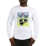 Plymouth Rock Rooster, Hen & Long Sleeve T-Shirt