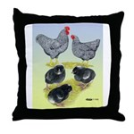 Plymouth Rock Rooster, Hen & Throw Pillow