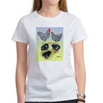Plymouth Rock Rooster, Hen & Women's T-Shirt