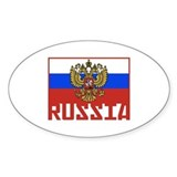 Russian Flag Oval Decal