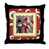 Sock Monkeys Throw Pillow