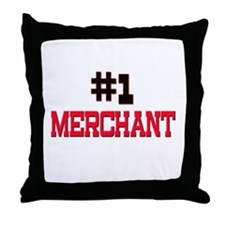 Number 1 MERCHANT Throw Pillow