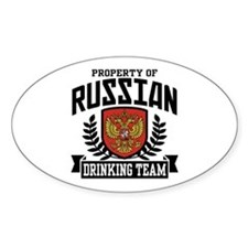 Russian Drinking Team Oval Bumper Stickers