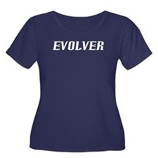 Evolver Women's Plus Size Scoop Neck Dark T-Shirt