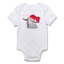 Angora Doeling Santa Hat Infant Creeper