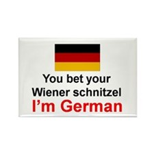 German Wiener Schnitzel Rectangle Magnet