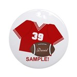 FOOTBALL YOUR NUMBER AND NAME Ornament (Round)