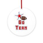 Go Team Football Ornament (Round)