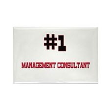 Number 1 MANAGEMENT CONSULTANT Rectangle Magnet