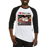 I heart Mini Lops Baseball Jersey