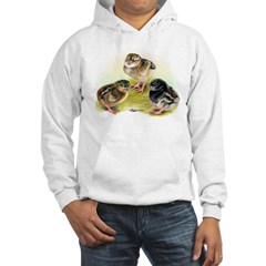 Dark Cornish Poultry Chicks Hooded Sweatshirt