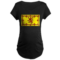 Royal Standard of Scotland Maternity Dark T-Shirt