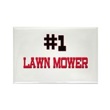 Number 1 LAWN MOWER Rectangle Magnet (10 pack)