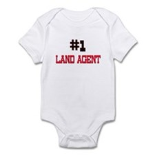 Number 1 LAND AGENT Infant Bodysuit