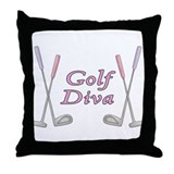 Golf Diva Throw Pillow