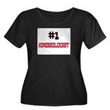 Number 1 KINESIOLOGIST Women's Plus Size Scoop Nec