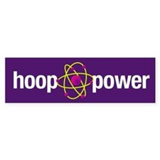 Hoop Power Bumper Car Sticker
