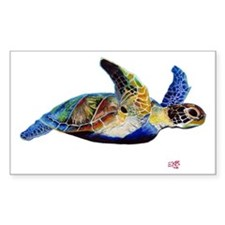 Turtle Rectangle Sticker 50 pk)