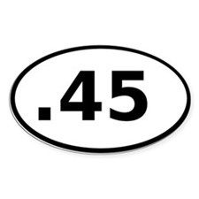 .45 Oval Decal