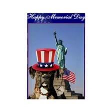 Memorial Day Boxer Rectangle magnets (10 pack)