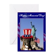 Happy Memorial Day Boxer Greeting Card