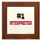 Number 1 INTERPRETER Framed Tile