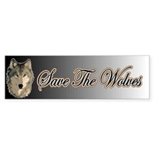 Save The Wolves Bumper Sticker (50 pk)