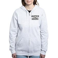 Whitey for Obama Zip Hoodie