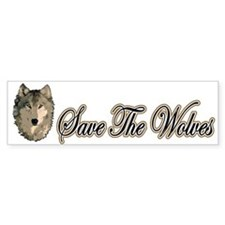 Save The Wolves Bumper Bumper Sticker