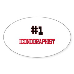 Number 1 ICONOGRAPHIST Oval Sticker