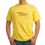 Osteoporosis Yellow T-Shirt