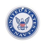US Navy Ornament (Round)