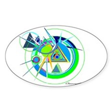 recovery kewl colors Oval Sticker (50 pk)