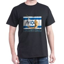 I Stand with Israel 2 Black T-Shirt