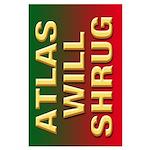 35x23 ATLAS WILL SHRUG Poster