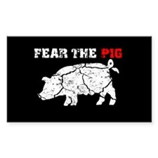 Fear The Pig Rectangle Decal