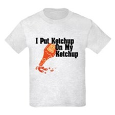 Kids Ketchup T-Shirt in white or grey