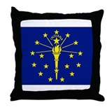 Indiana Flag Throw Pillow