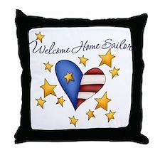 Welcome Home Sailor Throw Pillow
