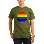 Round Pride Flag Organic Men's T-Shirt (dark)
