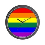 Round Pride Flag Wall Clock