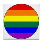 Round Pride Flag Tile Coaster