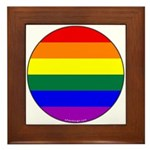 Round Pride Flag Framed Tile