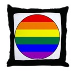 Round Pride Flag Throw Pillow