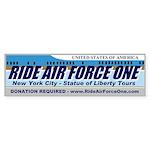 Ride Air Force One Bumper Sticker (50 pk)