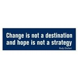Change Is Not Destination AntiObama BumperBumper Sticker