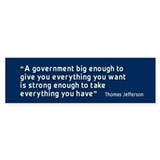 Thomas Jefferson Quote BumperCar Sticker