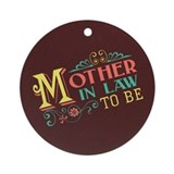 Pastel Mother in Law Ornament (Round)